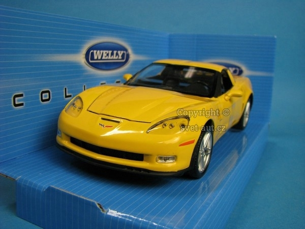 Chevrolet Corvette 2007 yellow 1:24 Welly