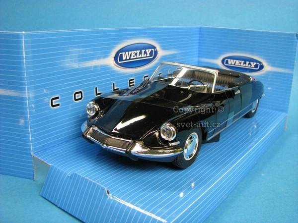 Citroen DS 19 Cabriolet soft top Black 1:24 Welly