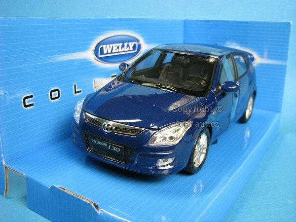 Hyundai i30 blue 1:24 Welly