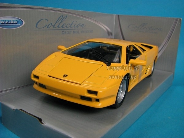 Lamborghini Diablo yellow 1:24 Welly
