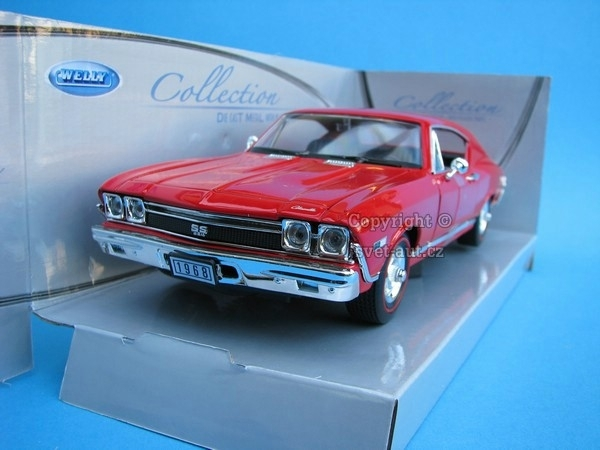 Chevrolet Chevelle SS 396 1968 red 1:24 Welly