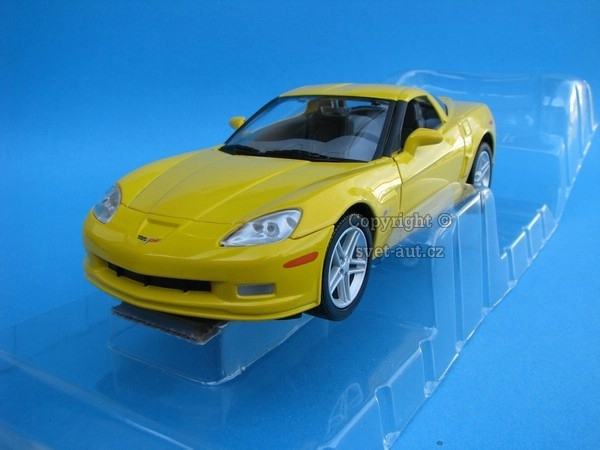 Chevrolet Z06 2007 yellow 1:24 Yatming