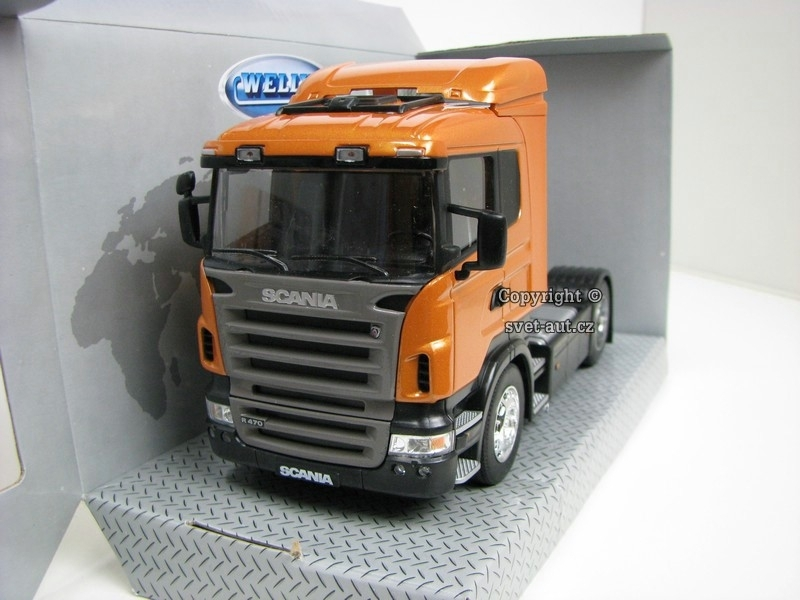 Scania R470 Tahač Orange 1:32 Welly