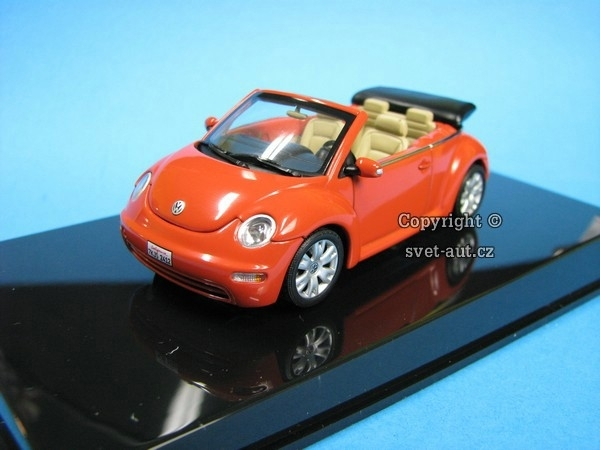 Volkswagen NEW Beetle Orange 1:43 Autoart