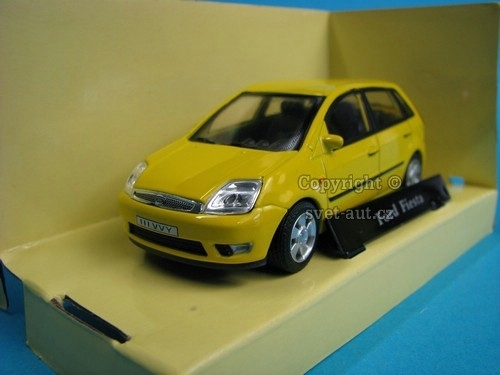 Ford Fiesta yellow 1:43 Cararama-Abrex