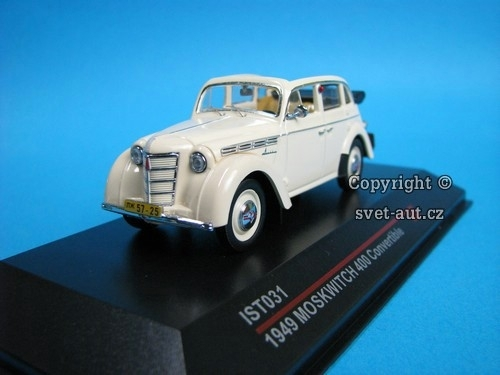 Moskwitch 400 Convertible 1949 1:43 Ixo Ist