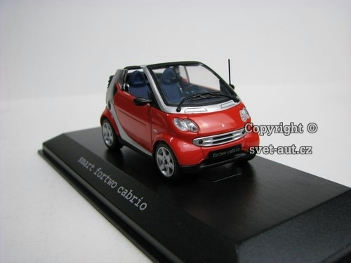 Smart Fortwo Cabrio phat red 1:43 Minichamps