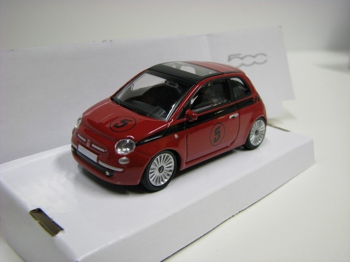 Fiat 500 Nuova potisk 1:43 MM Red 5