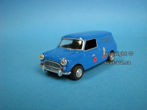 Mini Cooper Van Legion blue 1:43 Oxford