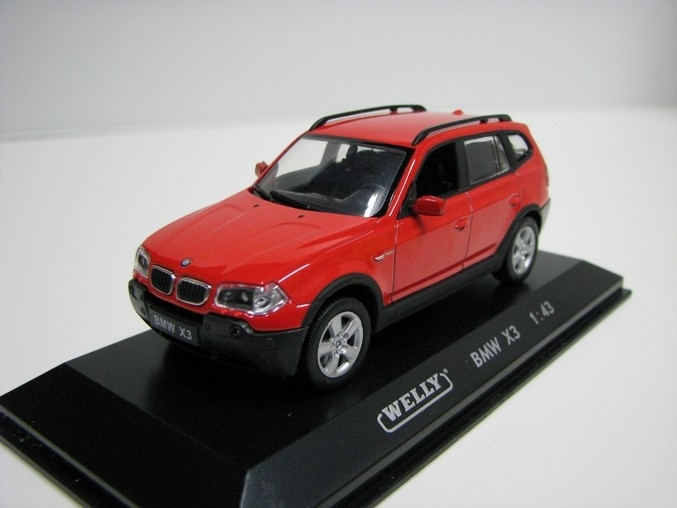BMW X3 Red 1:43 Welly
