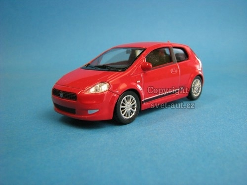 Fiat Grande Punto red potisk 1:43 Welly