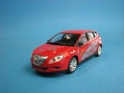 Lancia Delta red potisk 1:43 Welly