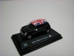 Mini Cooper New black vlajky GB 1:72 Cararama