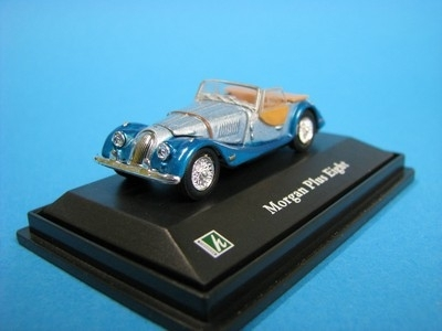 Morgan Plus Eight Convertible blue 1:72 Cararama