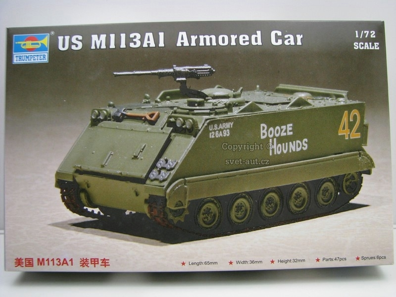US M113A1 Armored Car Kit 1:72 Trumpeter