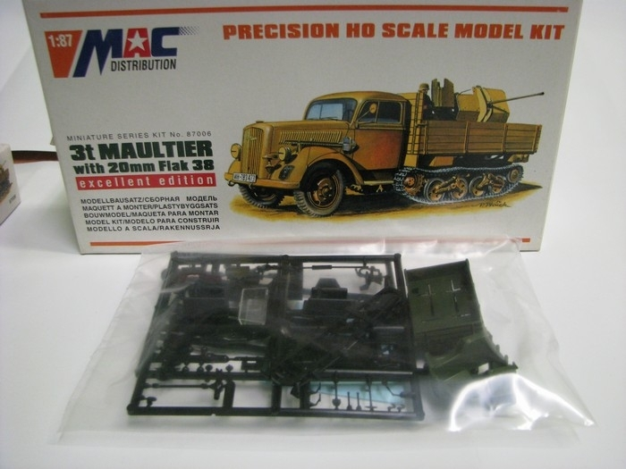 Opel Maultier 3t with 20mm Flak38 1:87 MAC