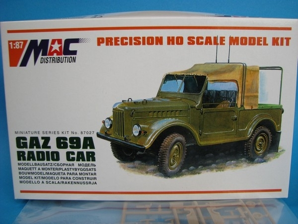 GAZ 69A  Radio car 1:87 MAC