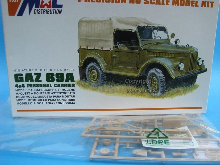 Gaz 69A 4x4 Personal Carrier 1:87 MAC