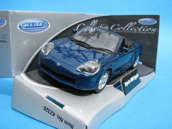 Toyota MR2 Spyder blue 1:32 - 36 Welly