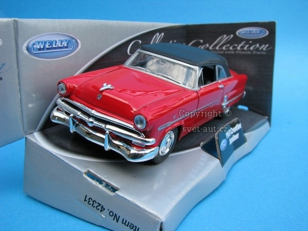 Ford Crestline Sunliner 1953 Cabrio hard top red 1:32 - 36 Welly