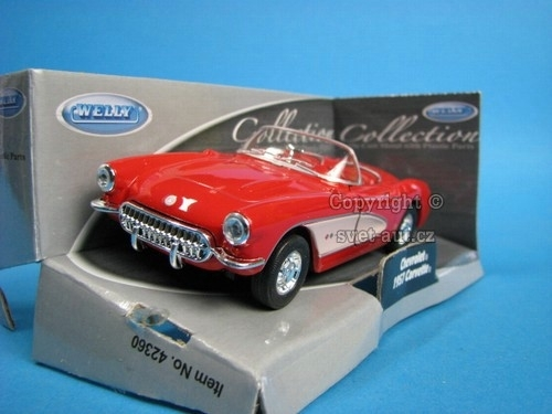 Chevrolet Corvette 1957 Cabrio open red 1:32 - 36 Welly