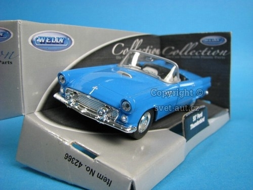 Ford Thunderbird Cabrio 1955 blue 1:32 - 36 Welly