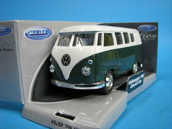 Volkswagen T1 Classical Bus 1962 Green/White 1:32 - 36 Welly