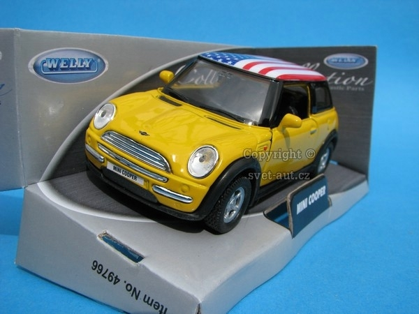 Mini Cooper New yellow US 1:32 - 36 Welly