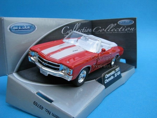Chevrolet Chevelle SS 454 1971 Cabrio red 1:32 - 36 Welly