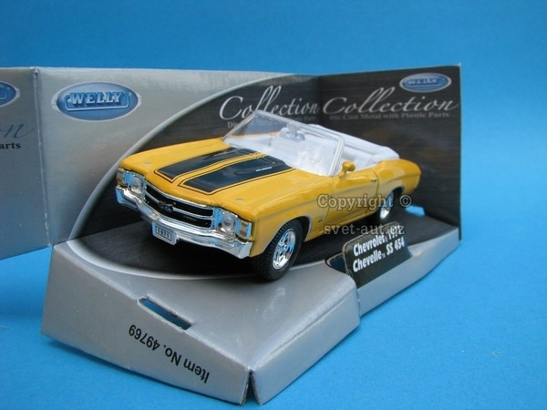 Chevrolet Chevelle SS 454 1971 Cabrio yellow 1:32 - 36 Welly