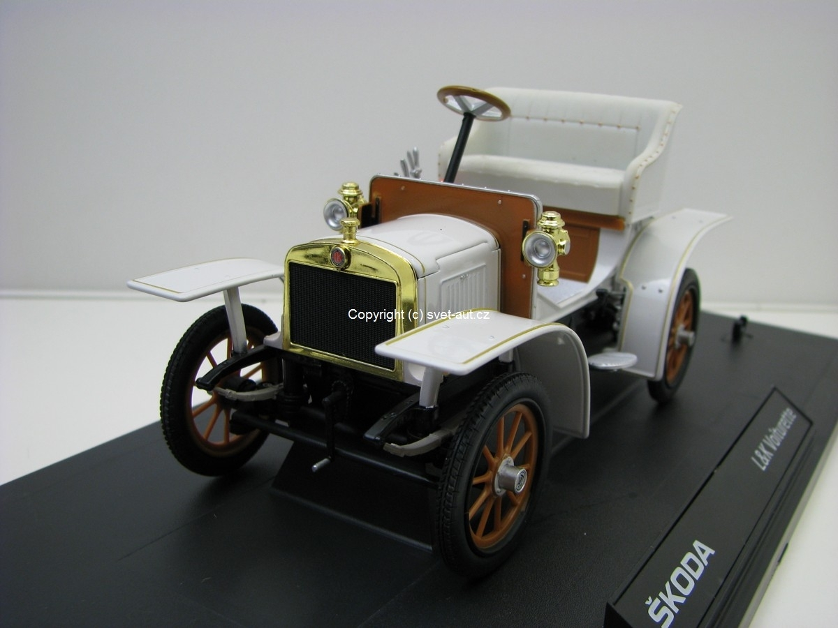 Laurin & Klement Voiturette 1905 white 1:18 Abrex