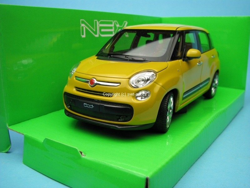 Fiat 500L 2013 Yellow 1:24 Welly