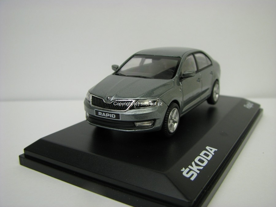 Škoda Rapid 2012 CJ Platin Gray Metallic 1:43 Abrex
