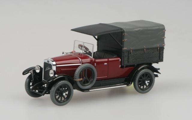 Škoda Laurin a Klement 110 Combi Body 1927 Van Purple Red 1:43 Abrex