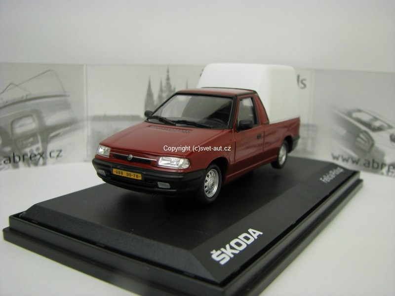 Škoda Felicia Pick Up 1996 Romantic Red 1:43 Abrex