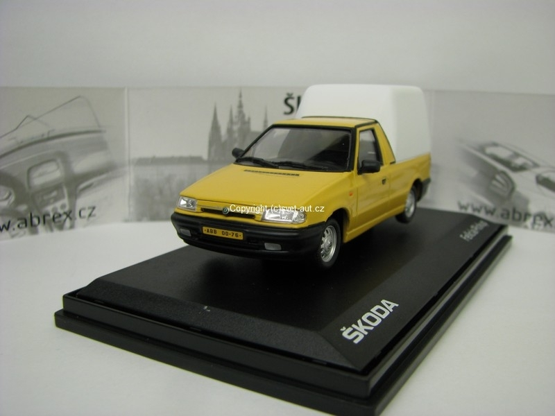 Škoda Felicia Pick Up 1996 Yellow Pastel 1:43 Abrex