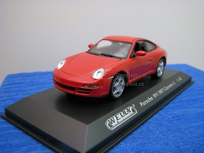 Porsche 911 997 Carrera S red 1:43 Welly