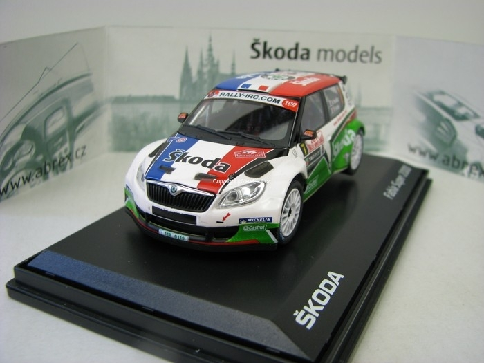 Škoda Fabia S2000 Facelift 2010 No.7 Vouilloz - Veillas Rally MC 2011 1:43 Abrex