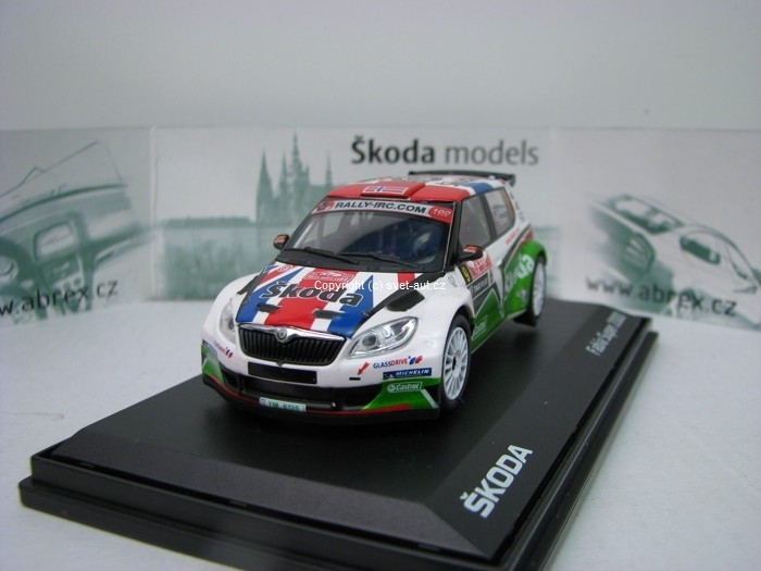 Škoda Fabia S2000 Facelift 2010 Rally MC 2011 No.9 Mikkelsen 1:43 Abrex