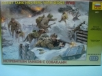 Figurky Soviet tank hunters with dogs 1:35 Zvezda