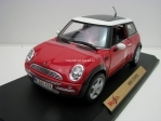 Mini cooper New sun roof red 1:18 Maisto