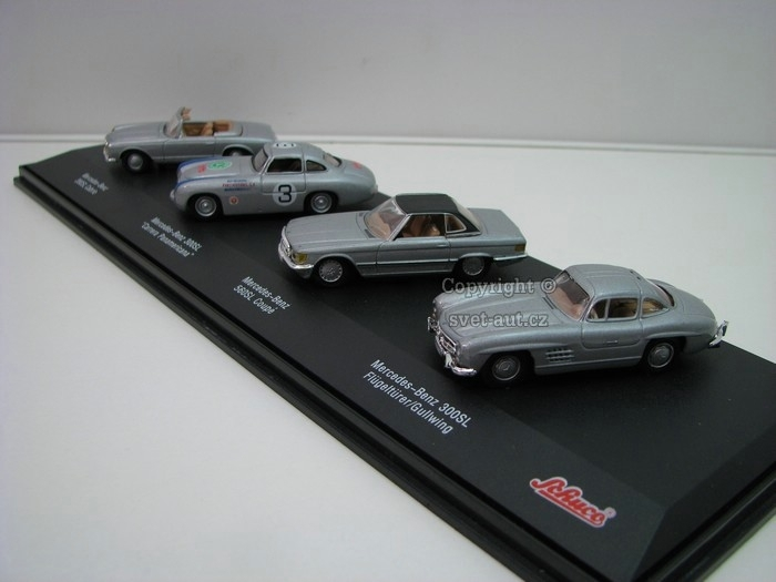 Set Mercedes-Benz 4 ks 1:72 Schuco