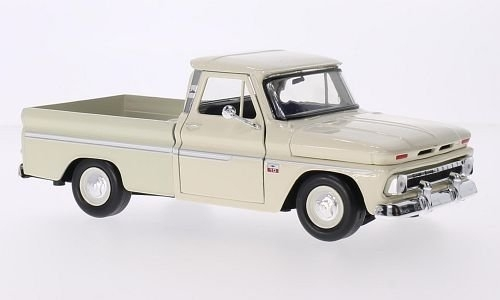 Chevrolet C10 Fleetside Pickup 1966 Creme 1:24 Motor Max
