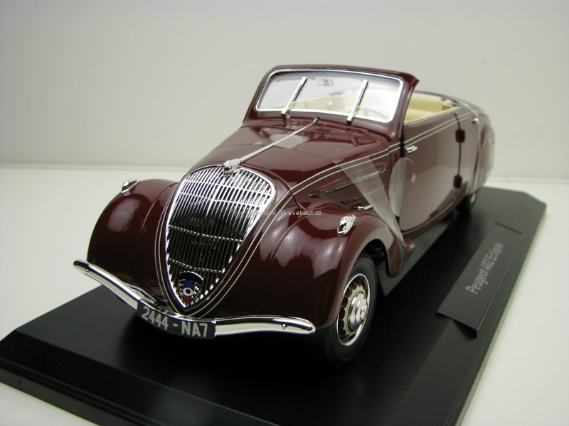 Peugeot 402 Eclipse 1937 purple 1:18 Norev