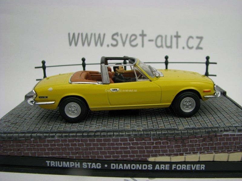Triuph Stag Diamonds are Forever James Bond 007 1:43 Universal H