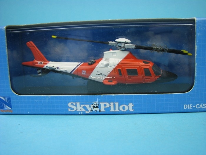 Vrtulník Agusta US Coast Guard 1:100 New Ray