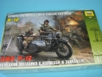 BMW R-12 German Motorcykle with sidecar and crew 1:35 Zvezda