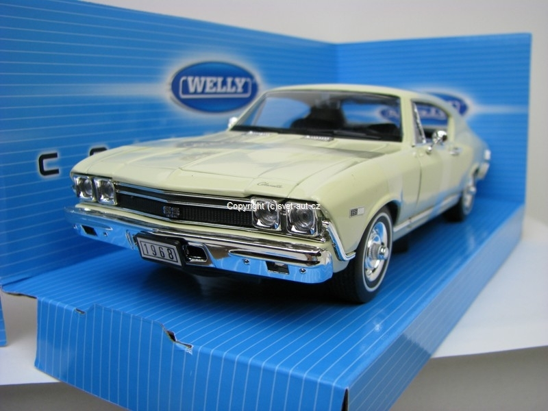Chevrolet Chevelle SS 396 1968 vanilla 1:24 Welly