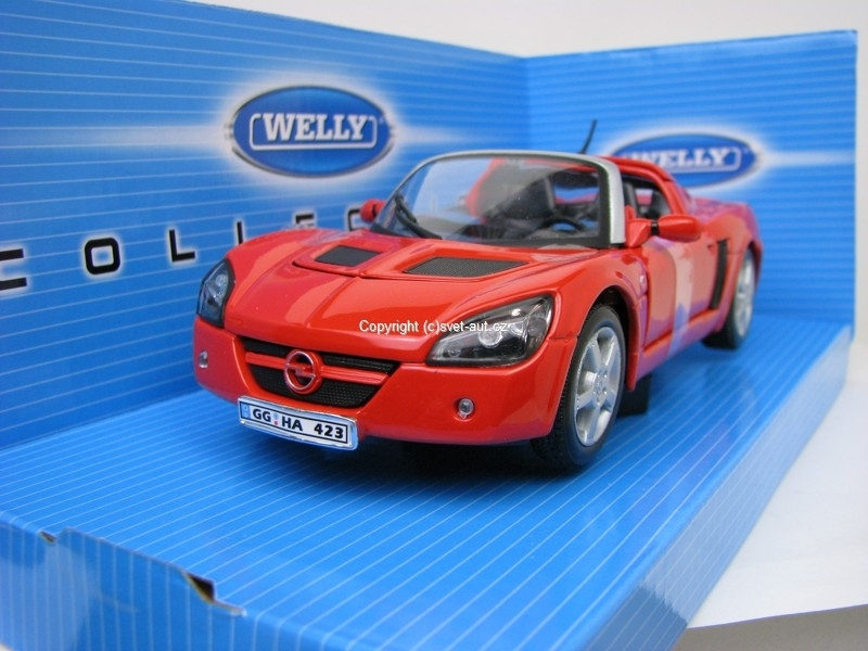 Opel Speedster 2001 red 1:24 Welly