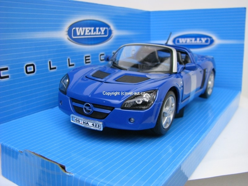 Opel Speedster 2001 blue 1:24 Welly